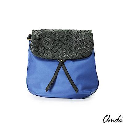 OMDI 歐帝兒 編織栗子斜肩包-大(藍色)