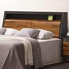 文創集 比德 現代5尺曲面美型雙人床頭箱(不含床底&床墊)-153x30x105cm免組