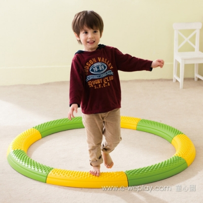 Weplay身體潛能開發系列【動作發展】踩踏平衡觸覺板(曲線)ATG-KT0005-1
