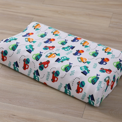 LAMINA 兒童波浪工學型天然乳膠枕-小汽車方程式
