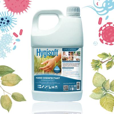 芬蘭Hygisoft科威護膚抗菌乾洗 (自然無香料) 4L*1