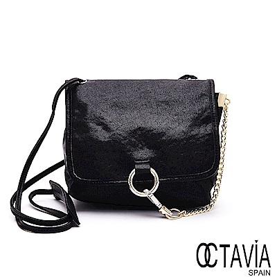 OCTAVIA 8 真皮 - 卡門之舞 環扣鍊條羊皮肩斜背包  - 氣勢黑