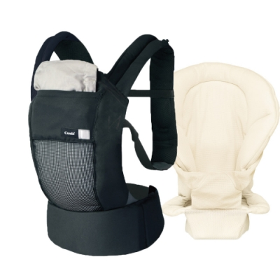 【Combi 康貝】Join Mesh 透氣減壓腰帶式揹巾+內墊米 (共4色可選)