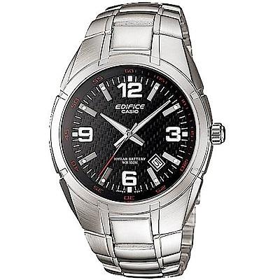 CASIO卡西歐EDIFICE 10年電力腕錶(EF-125D-1A)-黑