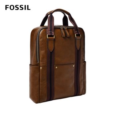 FOSSIL 母親節優惠 Houston 商務型兩用後背包(可入13吋筆電)-栗色 MBG9541215