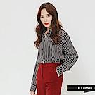 H:CONNECT 韓國品牌 女裝-知性條紋襯衫-藍