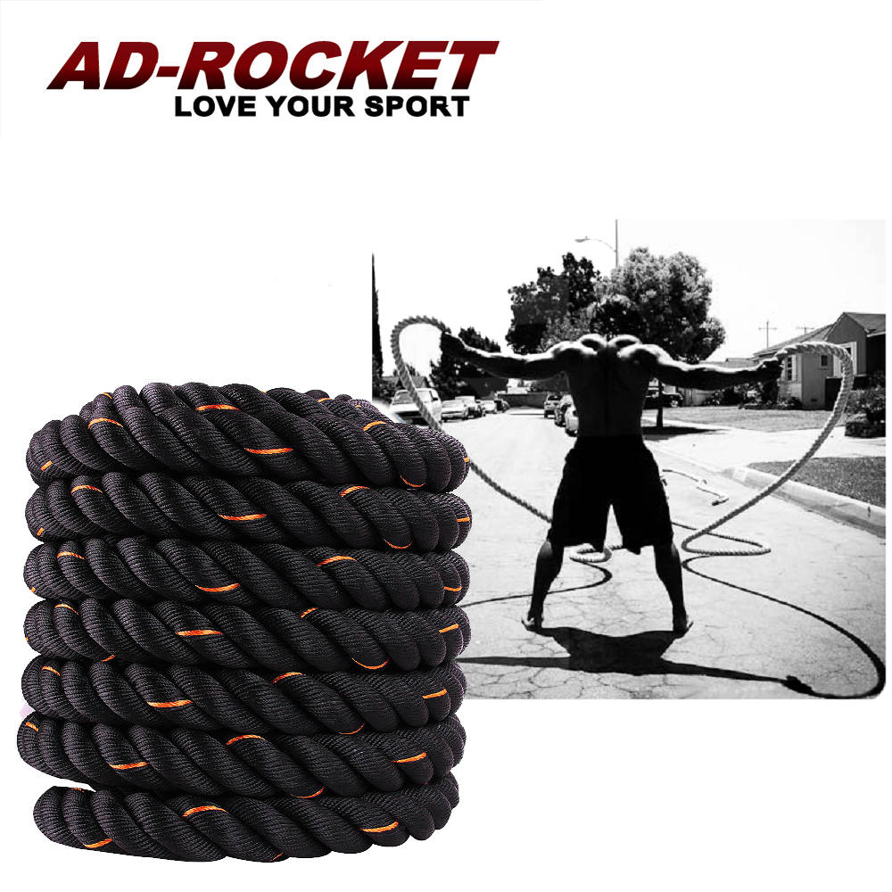 【AD-ROCKET】UFC專業級格鬥繩厚度50mm/戰繩/戰鬥繩 15M特大型