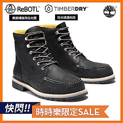 Timberland 男款黑色全粒面防水高筒靴|A2EEE