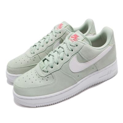 Nike 休閒鞋 Air Force 1 07 運動 女鞋 經典款 AF1 麂皮 簡約 球鞋 穿搭 綠 白 CV3026300
