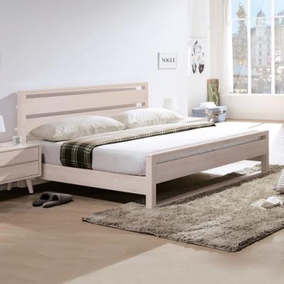Boden-懷德6尺北歐風雙人加大全實木床架(不含床墊)