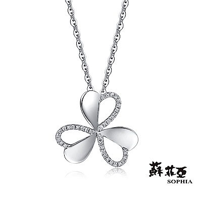 蘇菲亞SOPHIA 鑽鍊 - 愛戀幸運草鑽石項鍊