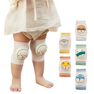 JoyNa【3組入】寶寶嬰兒春夏鏤空網眼爬行護膝學步防摔護肘襪套2入