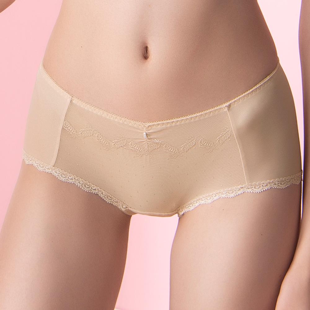 華歌爾-Good Fit M-LL 中低腰平口內褲(膚)細緻纖維素材