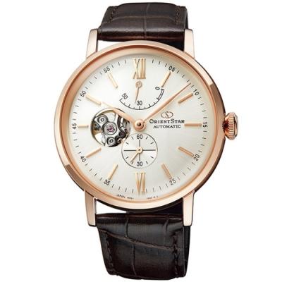ORIENT 東方錶 STAR東方之星真皮機械手錶RE-AV0001S/40mm