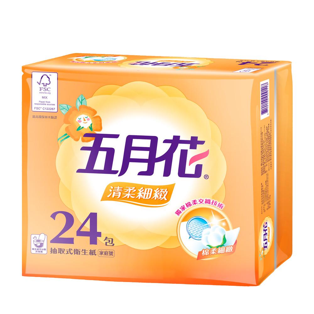[限時搶購]五月花清柔抽取衛生紙100抽 x72包/箱