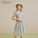 OUWEY歐薇 花卉雪紡印花洋裝(綠)