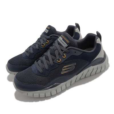 Skechers 休閒鞋 Overhaul Betley 運動鞋 男鞋 緩衝 保護 穩定 百搭 透氣網布 黑 灰 232046-NVGY