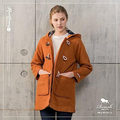 ROUSH 女生毛料牛角扣短大衣 (3色)