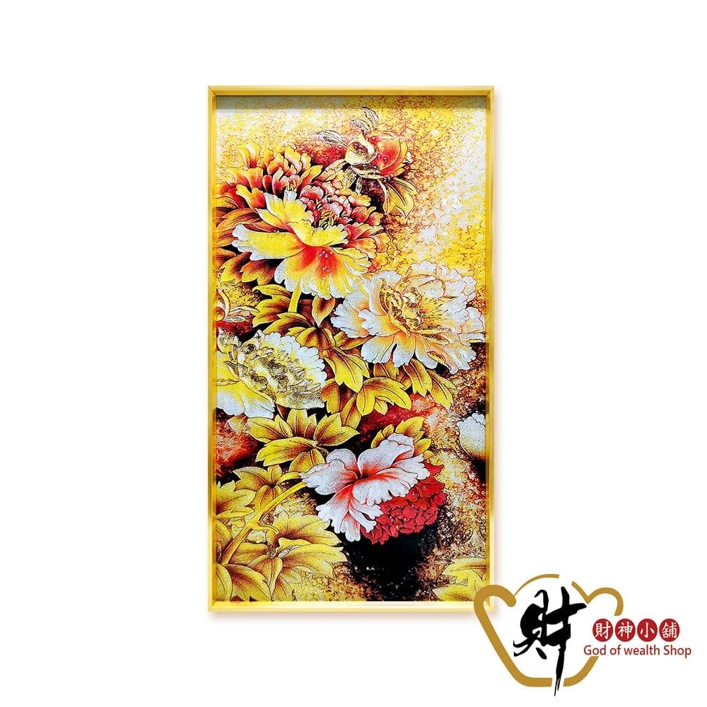 財神小舖 金玉滿堂 晶鑽晶瓷風水畫 (帶畫框) SPS-1011