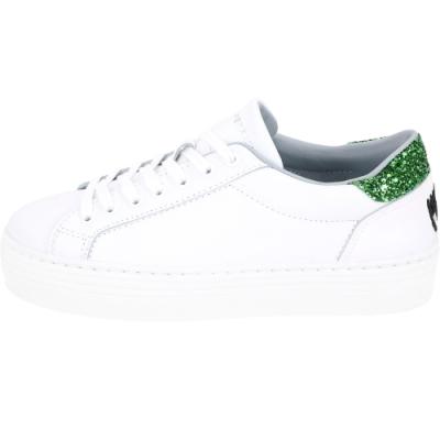 Chiara Ferragni 綠色仙人掌亮片綁帶運動鞋(白色)