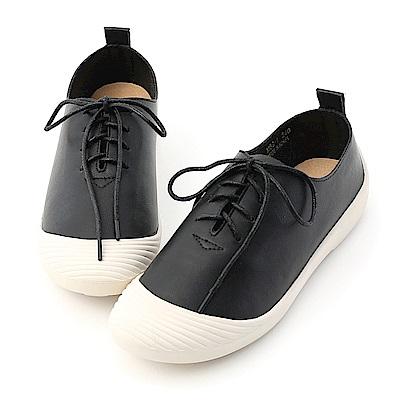 D+AF 休閒穿搭.奶油頭超軟綁帶休閒鞋*黑