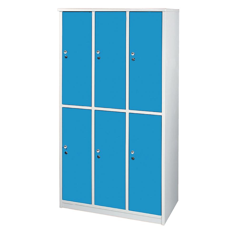 文創集 艾倫環保3.5尺塑鋼置物櫃/收納櫃(吊衣桿*6)-105x51x180cm-免組