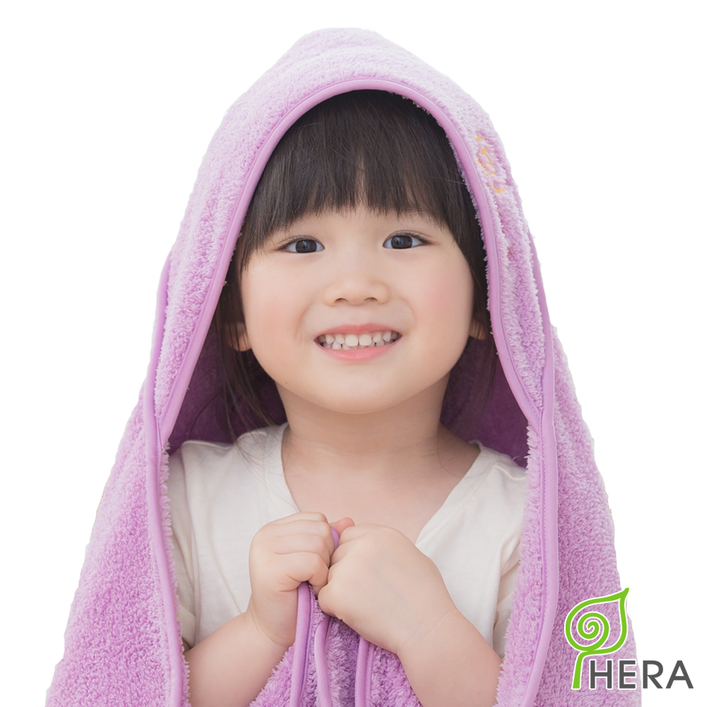 HERA  3M專利瞬吸快乾抗菌超柔纖嬰幼童連帽巾-薰衣紫