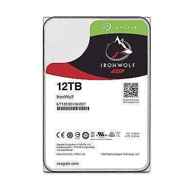 Seagate那嘶狼IronWolf  12 TB  3 . 5 吋 NAS專用硬碟