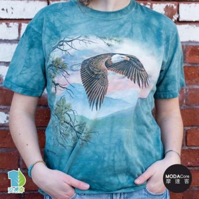 摩達客-美國進口The Mountain 雄偉展翅鷹 純棉環保藝術中性短袖T恤