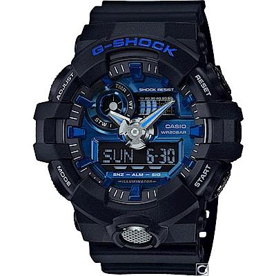 G-SHOCK  絕對強悍雙顯運動錶(GA-710-1A2)