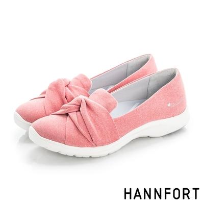 HANNFORT  EASY WALK樂活扭結動能氣墊休閒鞋 女 樂活桃