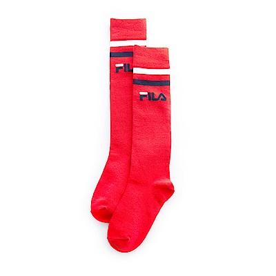 FILA 基本款棉質長筒襪-紅 SCT-1302-RD