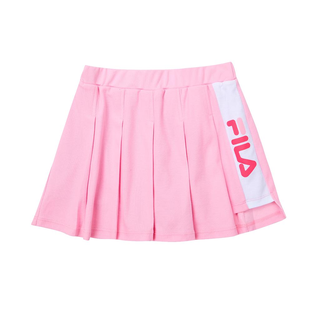 FILA KIDS 童吸濕排汗針織短裙-粉色 5SKT-4439-PK