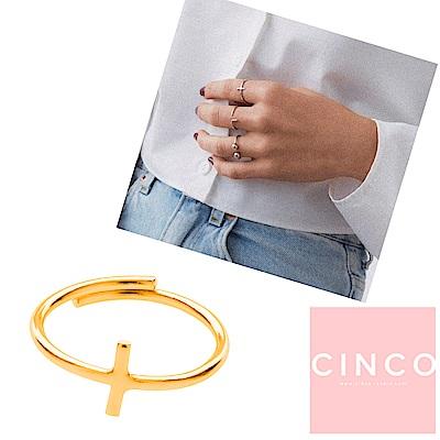 葡萄牙精品 CINCO DOUBLE PATH RING 24K金戒指 十字架戒指