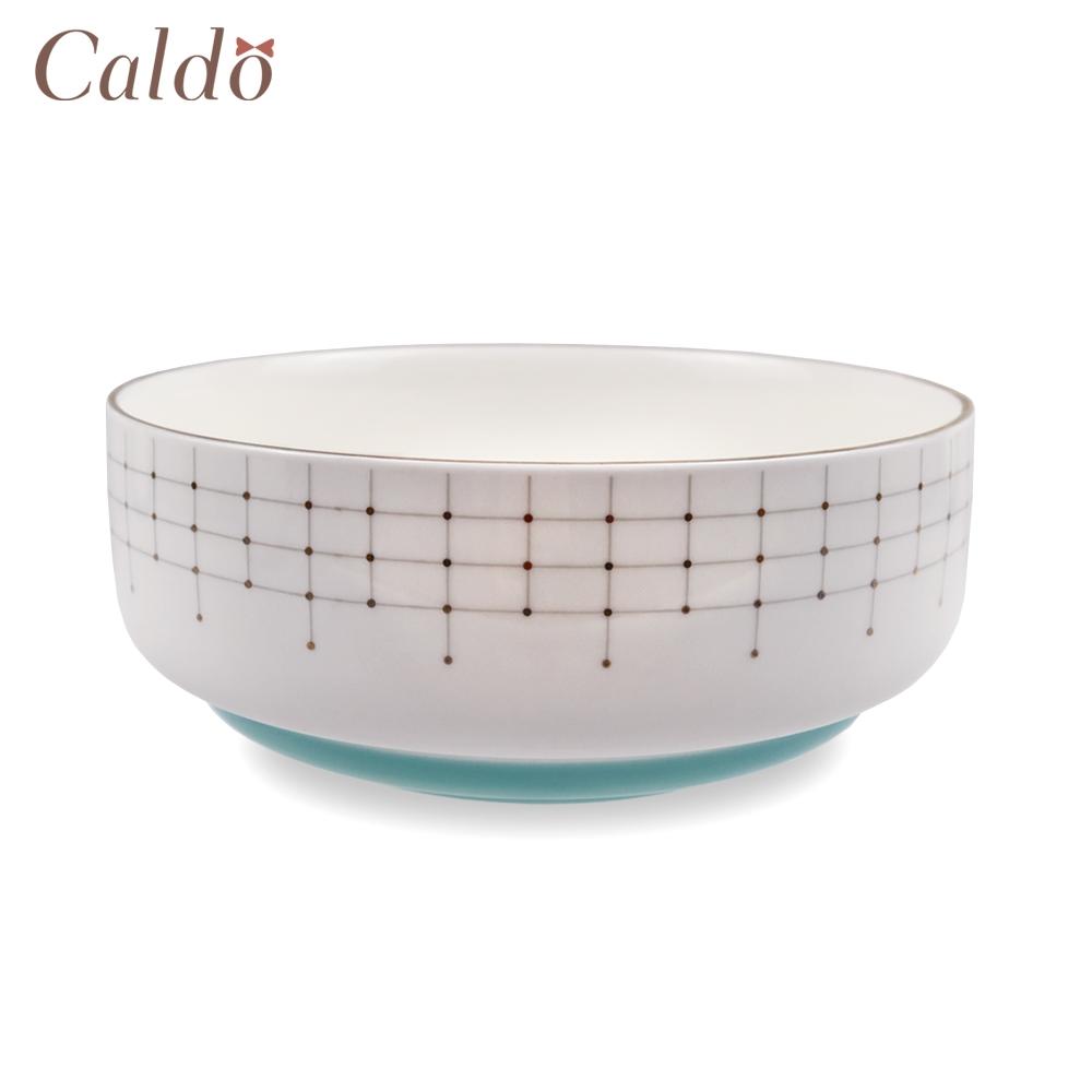 【Caldo卡朵生活】北歐輕奢典雅描金6吋陶瓷湯碗(快)