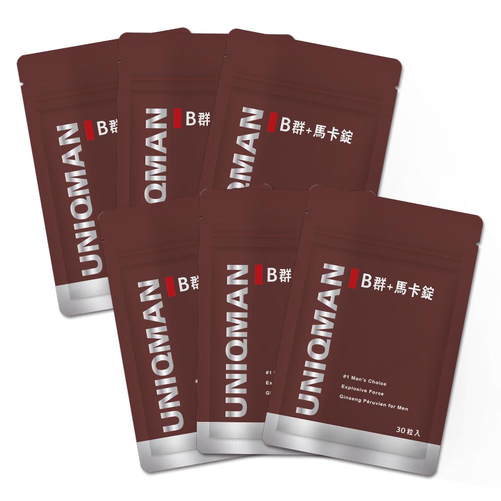 UNIQMAN B群+馬卡錠(6袋組)(30顆/袋) @ Y!購物