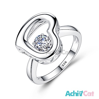 AchiCat 925純銀 跳舞的戒指 真愛奇蹟 跳舞石
