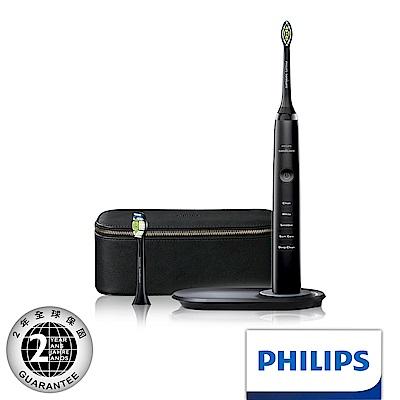【Philips 飛利浦】鑽石靚白音波震動牙刷 HX9392(時尚黑)