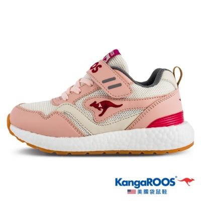 KangaROOS 美國袋鼠鞋 童鞋 RACER EVO 科技運動機能跑鞋/休閒鞋/運動鞋/兒童鞋(粉/桃紅-KK11313)