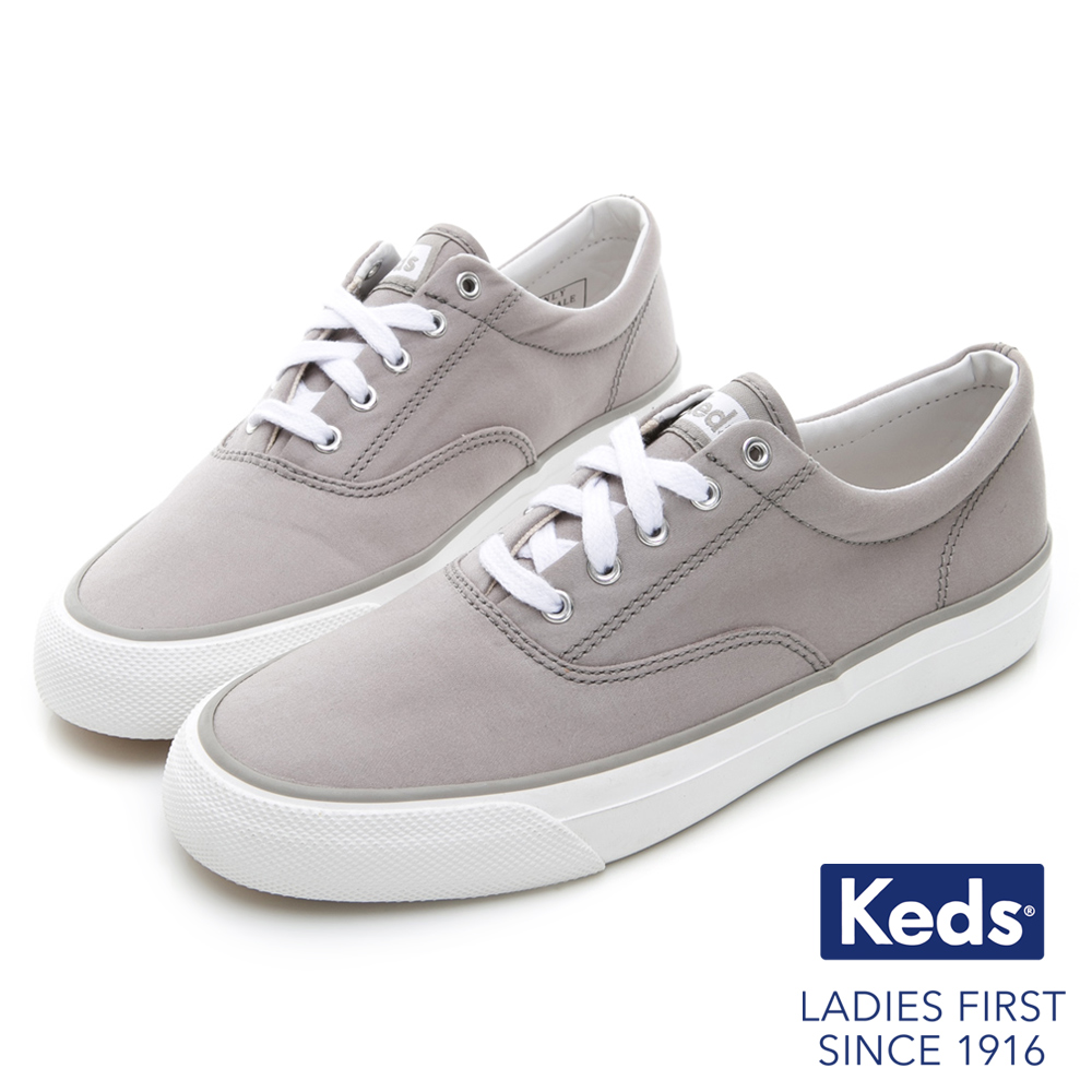 Keds ANCHOR 霧感復刻綁帶休閒鞋-淺灰 product image 1
