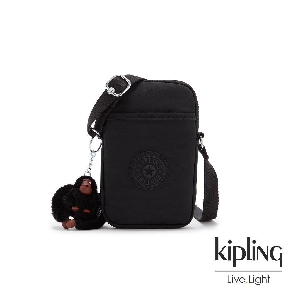 Kipling 質感黑可愛長方形小包-TALLY