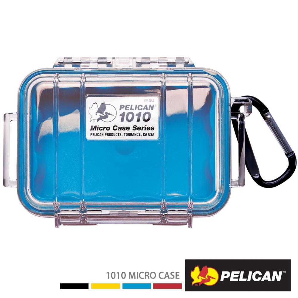 美國 PELICAN 1010 Micro Case 微型防水氣密箱-透明(藍)