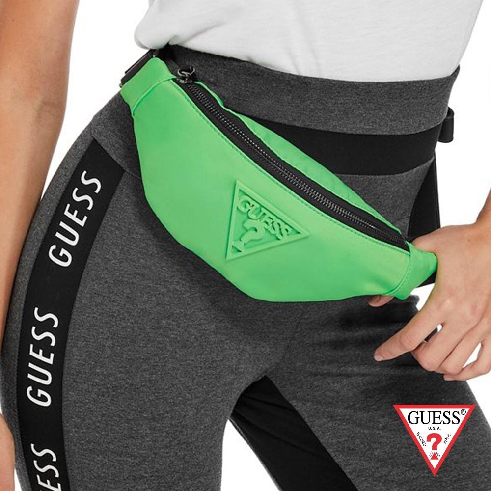 GUESS-女包-時尚休閒腰包-螢光綠 原價2090