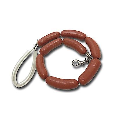 金德恩 台灣製造 中大型犬寵物專用香腸造型狗錬/牽繩/狗帶/臘腸