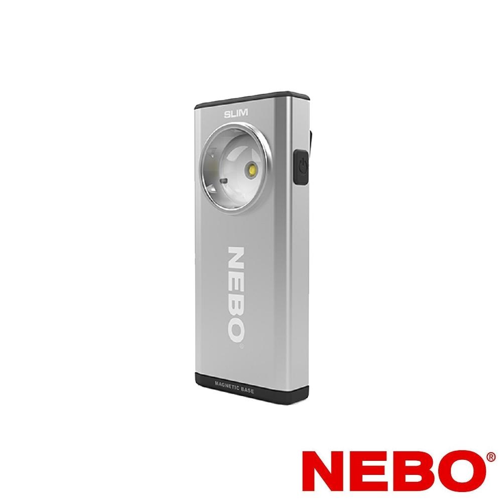 【NEBO】Slim超薄型充電可調光LED燈-銀