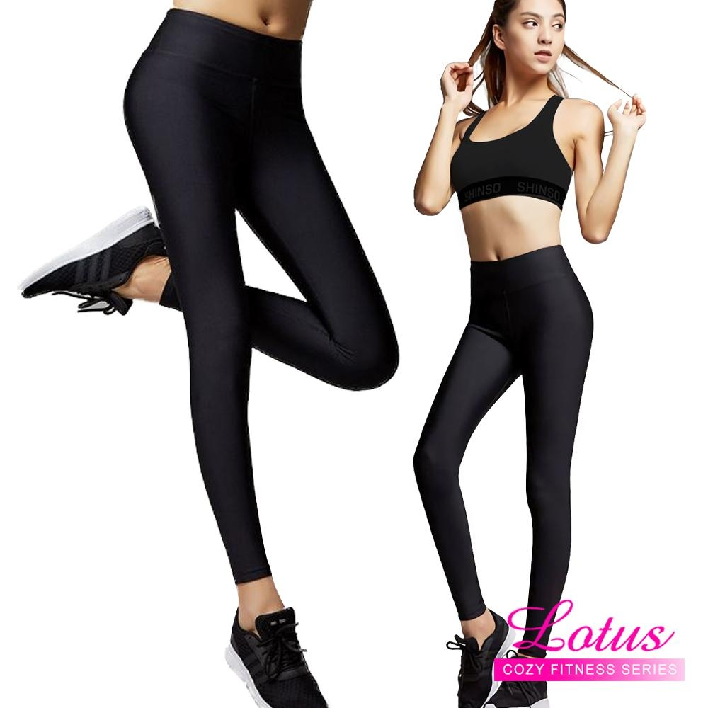 運動褲 無縫貼身高彈力運動內搭九分褲 M-XXL LOTUS