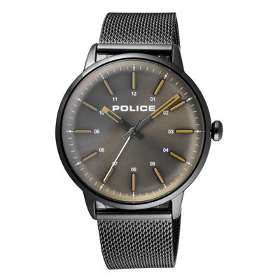 POLICE簡約高峰時尚米蘭腕錶-銀灰(15537JSU-53MM)/41mm