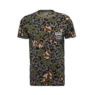 CONVERSE-男短袖上衣-綠迷彩-10008140-A01