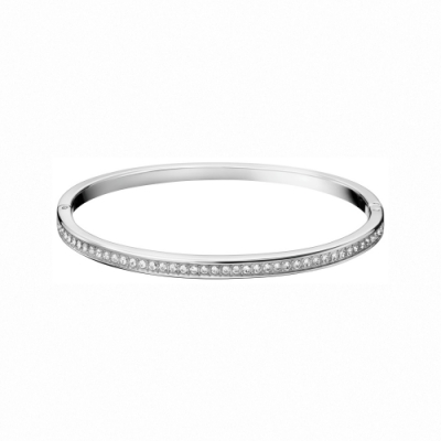 CALVIN KLEIN  Hook 系列經典時尚白鋼手環-M