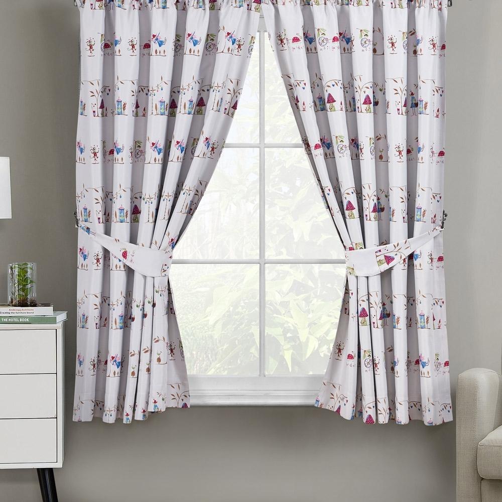 花園雙面印花單層半腰窗簾